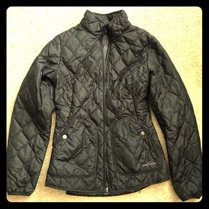 as new Eddie Bauer womens black quilted jacket S